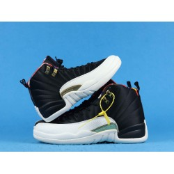 "Air Jordan 12 Retro ""Chinese New Year"" Black White BQ6497-006 36-40"