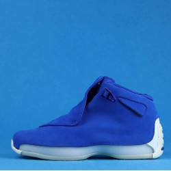 "Air Jordan 18 Retro ""Blue Suede"" Blue White AA2494-401 40-46"