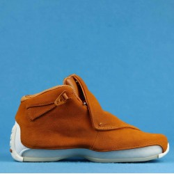 "Air Jordan 18 Retro ""Orange Suede"" Orange White AA2494-801 40-46"