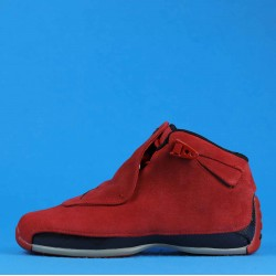 "Air Jordan 18 Retro ""Red Suede"" Red Black AA2494-601 40-46"