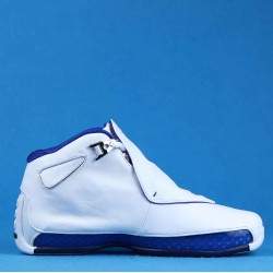 "Air Jordan 18 Retro ""White Sport Royal"" White Blue AA2494-106 40-46"