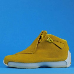 "Air Jordan 18 Retro ""Yellow Suede"" Yellow White AA2494-701 40-46"