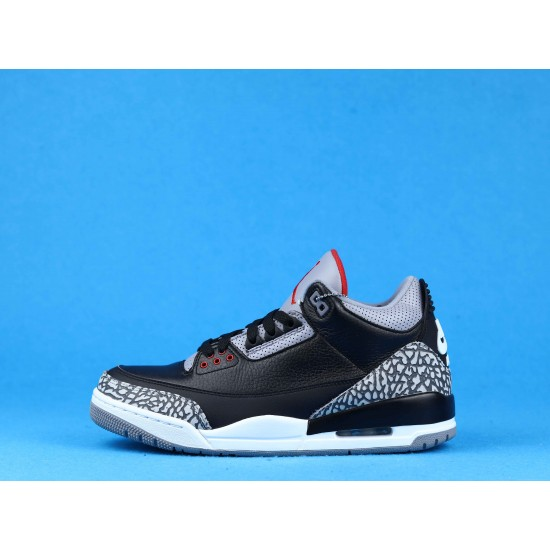 Air Jordan 3 Black Cement Gray Black Red 854262-001 40-46