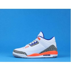 "Air Jordan 3 ""Knicks"" White Orange Blue 136064-148 40-46"