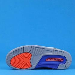 "Air Jordan 3 ""Knicks"" White Orange Blue 136064-148 40-46"