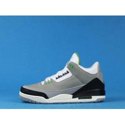 "Air Jordan 3 ""Chlorophyll"" Tinker Gray Black Green 136064-006 40-46"