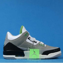 "Air Jordan 3 ""Chlorophyll"" Tinker Gray Black Green 136064-006 40-46"