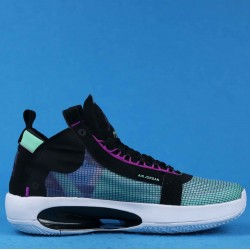 "Air Jordan 34 PF ""Blue Void"" Black White Green BQ3381-400 40-46"