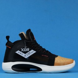 "Air Jordan 34 Eclipse ""Amber Rise"" Black Yellow BQ3381-800 40-46"