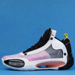 "Air Jordan 34 ""Paris"" Blue Void White Pink CZ7752-601 36-46"
