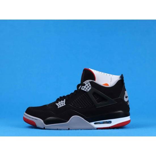 Air Jordan 4 Bred Black Red 308497-060 40-46