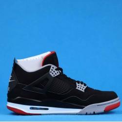 """Air Jordan 4 """"Bred Black"""" Red 308497-060 40-46"""