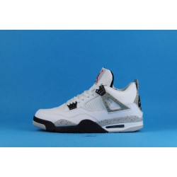 "Air Jordan 4 Retro OG ""White Cement"" White Gray 840606-192 40-46"