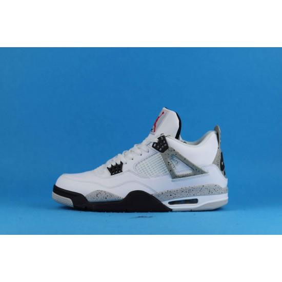 Air Jordan 4 Retro OG White Cement White Gray 840606-192 40-46