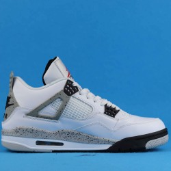 """Air Jordan 4 Retro OG """"White Cement"""" White Gray 840606-192 40-46"""