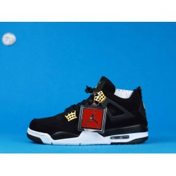 """Air Jordan 4 """"Royalty"""" Black Gold 308497-032 40-46"""