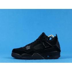 "Air Jordan 4 ""No Cover"" Pony Hair Black Cat Triple Black CK2925-001 40-46"