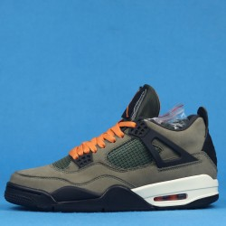 Air jordan 4 X Undefeated Travis Scott Green Black Orange 40-46
