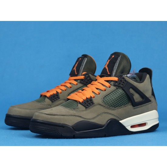 Sale Air jordan 4 X Undefeated Travis Scott Green Black Orange 40-46 Shoes