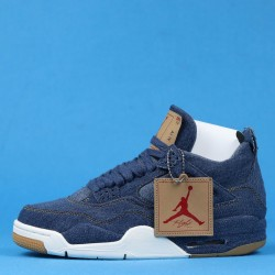 "Levis x Air Jordan 4 ""Denim"" White Blue Brown AO2571-401 40-46"