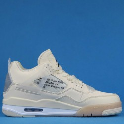 "Off White x Air Jordan 4 ""Sail"" SP WMNS Triple White AQ9129-002 40-46"
