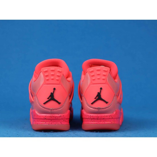 "Sale Air Jordan 4 Retro Wmns NRG ""Hot Punch"" Pink Black AQ9128-600 36-46 Shoes"