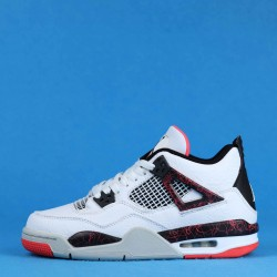 "Air Jordan 4 ""Pale Citron"" Hot Lava White Black Pink 308497-116 36-40"
