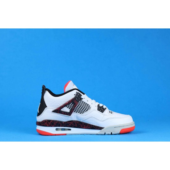 "Sale Air Jordan 4 ""Pale Citron"" Hot Lava White Black Pink 308497-116 36-40 Shoes"