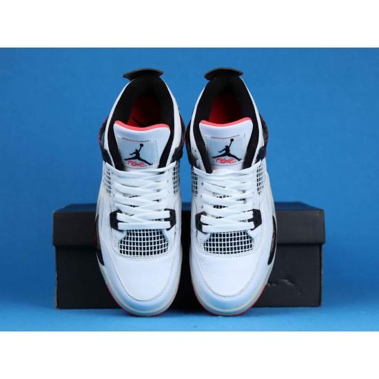 """Sale Air Jordan 4 """"Pale Citron"""" Hot Lava White Black Pink 308497-116 36-40 Shoes"""