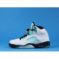 "Air Jordan 5 ""Island Green"" White Blue CN2932-100 40-46"
