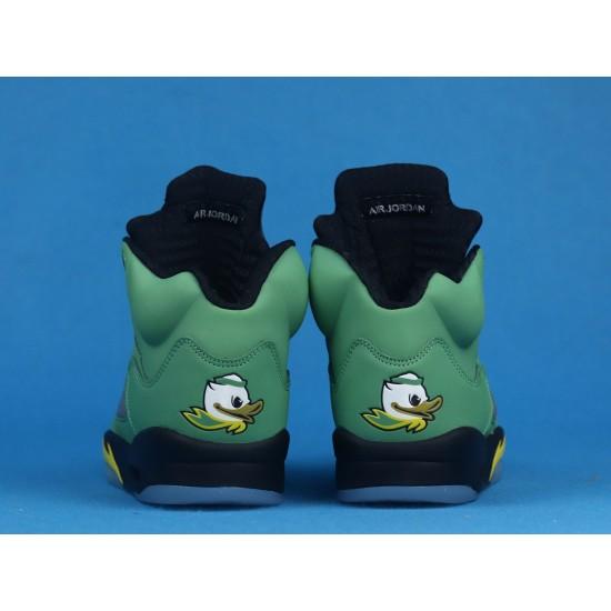 Air Jordan 5 Oregon Ducks Green Yellow CK6631-307 40-46