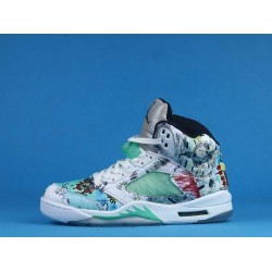 "Air Jordan 5 ""Wings"" White Blue AV2405-900 40-46"