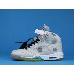 Off White x Air Jordan 5 Gray Yellow CT8480-105 40-46