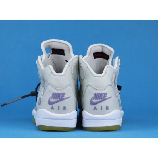 Off White x Air Jordan 5 Gray Yellow CT8480-105 40-46