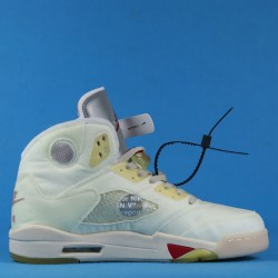 Off White x Air Jordan 5 White Red CT8480-002 40-46