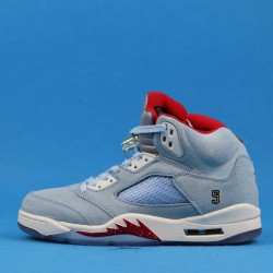 "Trophy Room x Air Jordan 5 ""Ice Blue"" Red Blue CL1899-107 40-46"