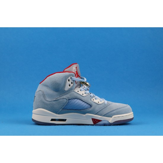 Trophy Room x Air Jordan 5 Ice Blue Red Blue CL1899-107 40-46