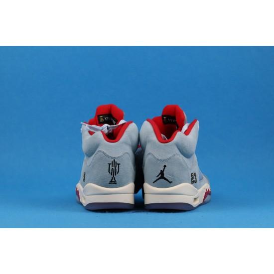 Trophy Room x Air Jordan 5 Ice Blue Red Blue CL1899-107 40-46