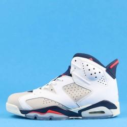 "Air Jordan 6 ""Tinker"" White Blue Red 384664-104 40-46"