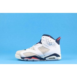 "Air Jordan 6 ""Tinker"" White Blue Red 384664-104 40-46"