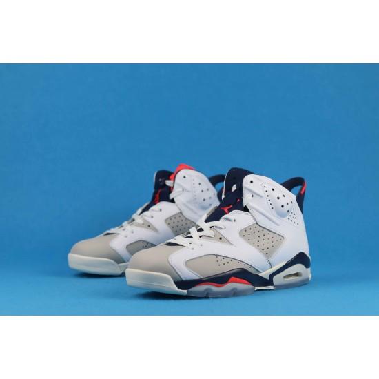Air Jordan 6 Tinker White Blue Red 384664-104 40-46