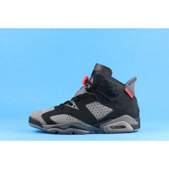 PSG x Air Jordan 6 Iron Grey Black Gray Red CK1229-001 40-46