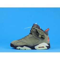 "Travis Scott x Air Jordan 6 ""Olive"" Green Orange CN1084-200 40-46"
