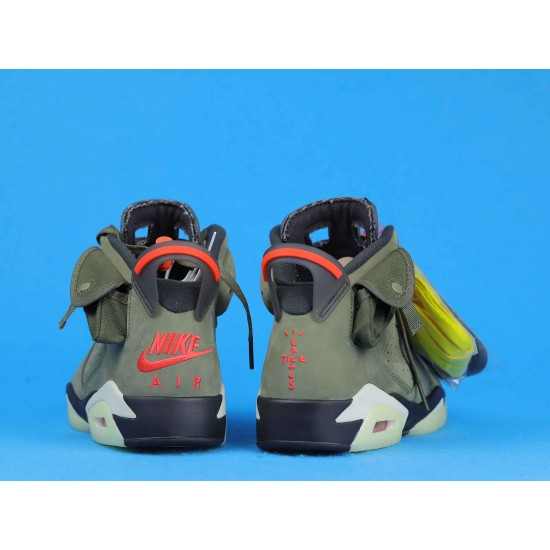 Travis Scott x Air Jordan 6 Olive Green Orange CN1084-200 40-46