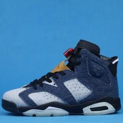 "Levis x Air Jordan 6 ""Washed Denim"" Blue Black CT5350-401 36-46"