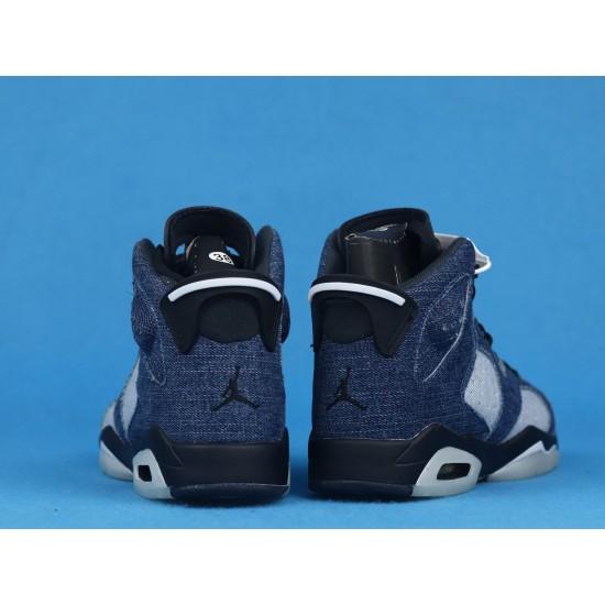 Levis x Air Jordan 6 Washed Denim Blue Black CT5350-401 36-46