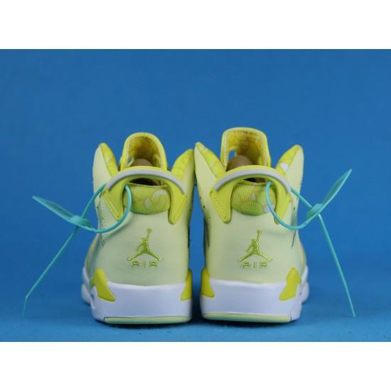 Air Jordan 6 GS Floral Yellow 543390-800 36-40