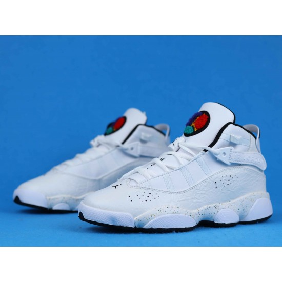 Air Jordan 6 RIngs Paint Splatter Tucker Triple White 322992-100 36-40