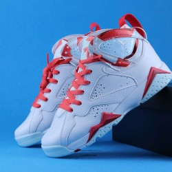 "Air Jordan 7 GS ""Hot Lava"" Topaz Mist White Pink 40-46"
